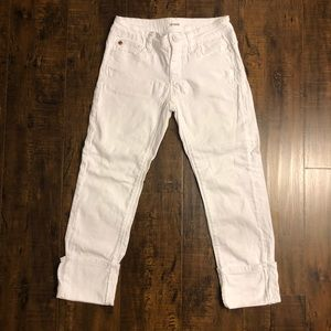 Hudson Jeans | white cuffed jeans